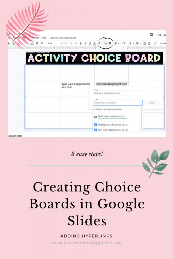 Choice-Boards-Kindergarten
